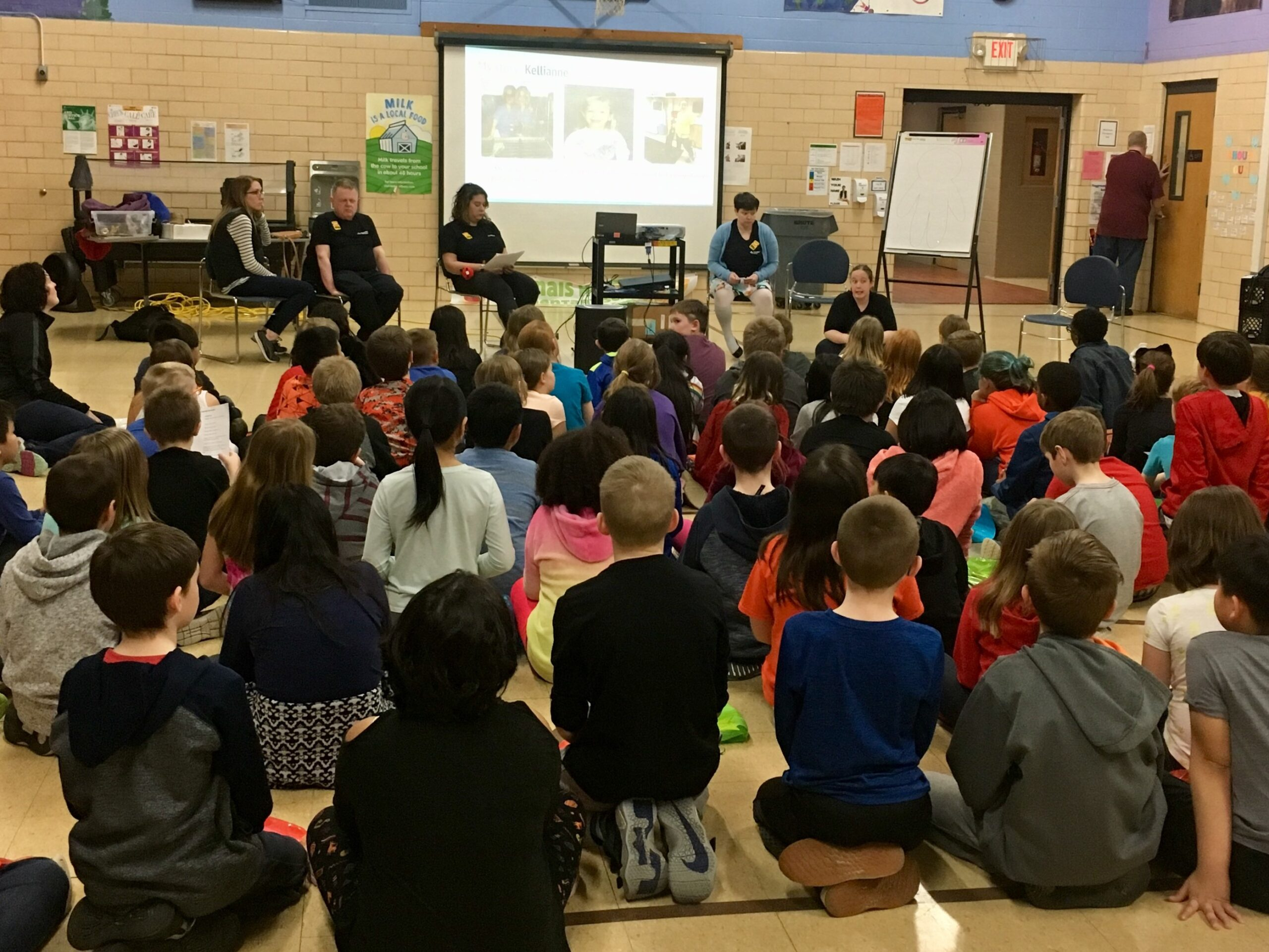 Ambassadors for Respect presenting to fourth grade students