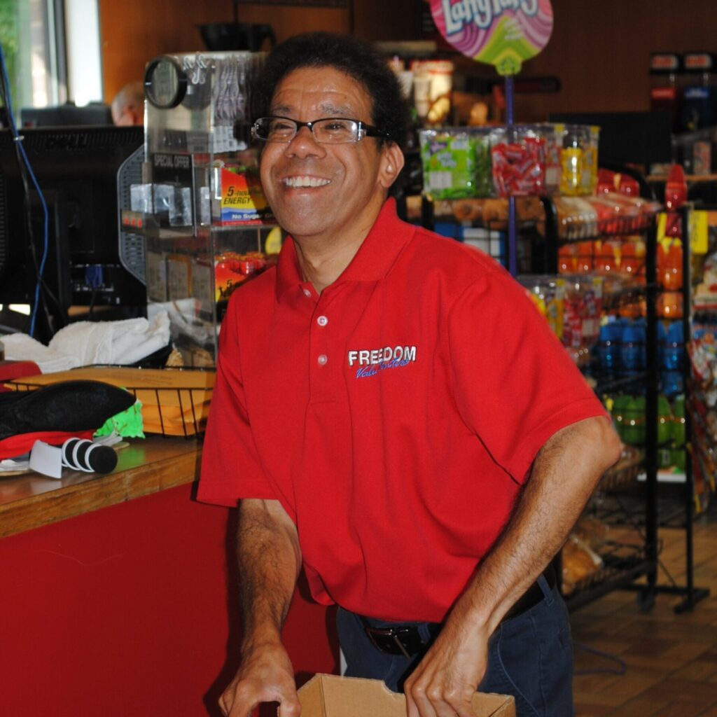 independently hired client at Freedom Valu Center