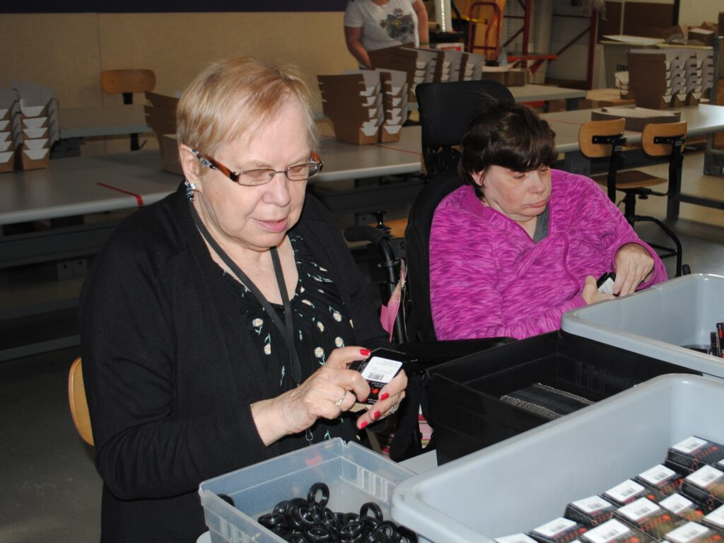 two clients from center-based workforce